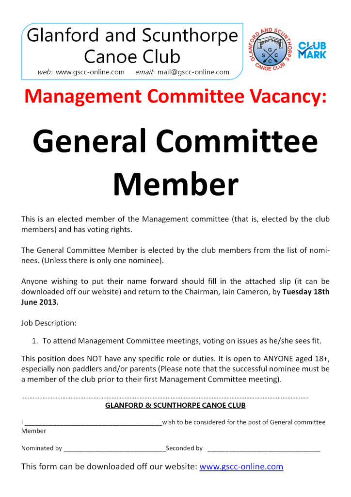 General management committee