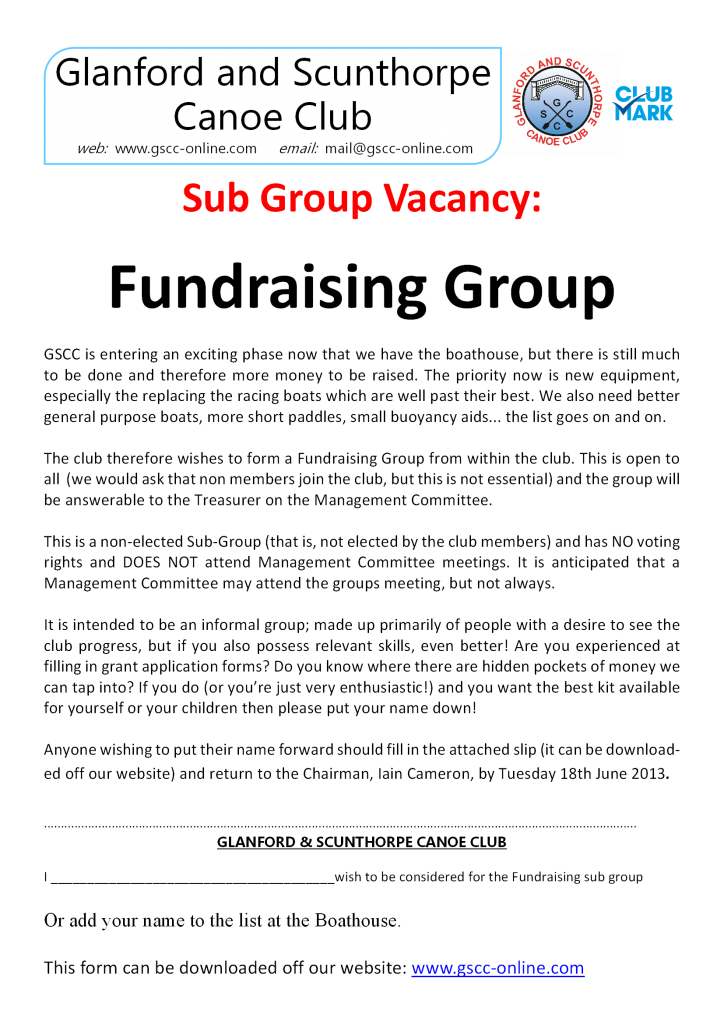 fundraising vacancy 2013